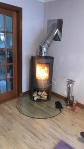 TERMATECH TT 20 S R VENTED AT 45 DEGREE WITH SILVER FLUE